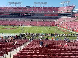 raymond james stadium section   tampa bay buccaneers
