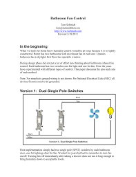 Nec Shower Light Version 1 Dual Single Pole Switches Manualzz Com