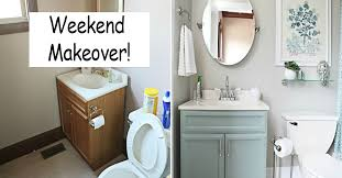 cheap bathroom makeover. Contemporary Makeover Brighten Up Your Bathroom In Less Than A Weekend Throughout Cheap Makeover S