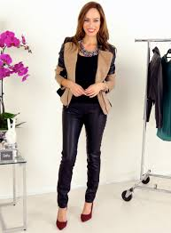 sydne style how to wear the leather sleeves trend express jacket leather leggings zara a to z trend guide what to wear outfit ideas fall 2016