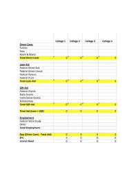 College Comparison Worksheet Template College Comparison Worksheet Template Barca Fontanacountryinn Com