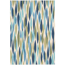 bits and pieces seaglass 5 ft x 7 ft area rug