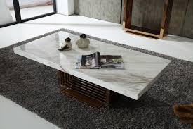 Modern Marble Coffee Table Kingsley Modern Marble Rosegold Coffee Table
