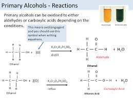 oxidation of alcohols as chemistry ocr