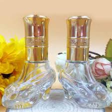 6ml cute glass shoes design perfume bottle refillable empty cosmetic scent bottle mini fragrance atomizer spray makeup tools in refillable bottles from