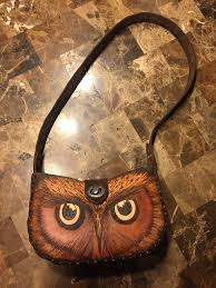 handmade leather owl purse by monica moody monicamoody com