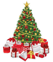 Christmas Tree with Gifts Vector Illustration