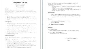 Rn Resume Objectives Sample Nurse Resume Sample Nursing Resume ...
