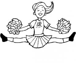 Printable Cheerleading Coloring Pages Coloring Me