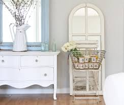 Bedroom: White Shabby Chic Furniture In Eclectic Bedroom With Blue ...