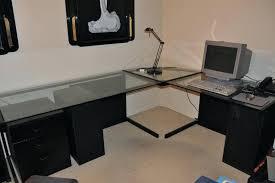 l shaped desk glass image of large l shaped desk computer l shaped glass desk office
