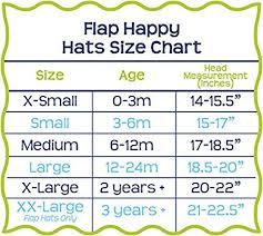 Hat Size Chart By Age Flap Happy Unisex Baby Upf 50 Plus Organic Flap Hat