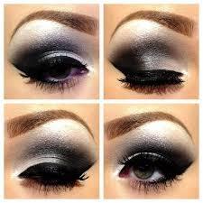eid makeup tutorial silver black smokey eyes with sparkle mugeek
