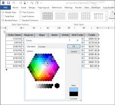 05 selecting color on colors dialog