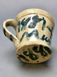 Mug dated 1881 made by John Wesley Carpenter in the Pipers Gap area of  Carroll County, Virginia. | Appalachia, Carroll county, John carpenter