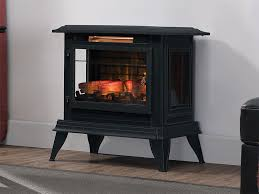 duraflame 3d black infragen electric fireplace stove w remote control dfi 5020 01