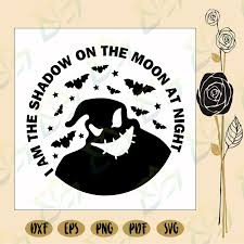 Photo halloween halloween shadow box halloween arts and crafts homemade halloween decorations halloween haunted house halloween cuttable svg png dxf & eps designs | etsy. I Am The Shadow On The Moon At Night Oogie Boogie Oogie Boogie Svg Blossomsvg