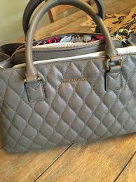 Vera Bradley Black Taupe Colorblock Quilted Leather Emma Satchel ... & Vera Bradley Black Taupe Colorblock Quilted Leather Emma Satchel Adamdwight.com