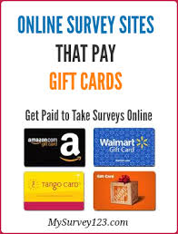 this is a list of legit surveys that pay gift cards including sites that