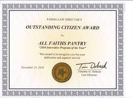 Outstanding Citizen Award