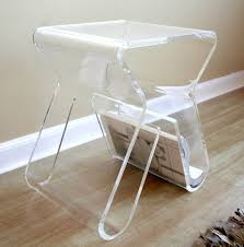 Cheerful Shelf Small Acrylic Side Table Acrylic Sofa Side Tables Acrylic C  Shaped Side Also Q