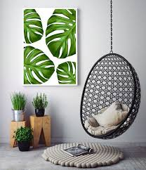 tropical home decor tropical leaves art tropical leaf print monstera leaf printable by little ink empire the link to see the newly released