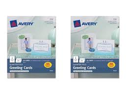 Avery Greeting Cards Avery Quarter Fold Greeting Cards For Inkjet Printers 4 25 X 5 5 Inches White Pack Of 20 3266 2 Packs Newegg Com