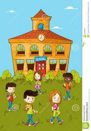 Children Education Cartoons Back To School Education Kids Cartoon Stock Vector Illustration