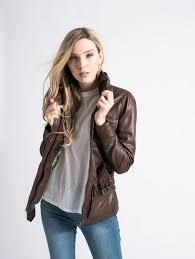 women s brown leather jacket barney s originals