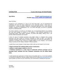 Fx Animator Cover Letter Sarahepps Com