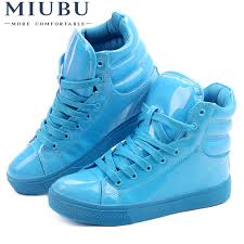 <b>MIUBU</b> New Arrival Lighted Candy Color High top Shoes Men ...