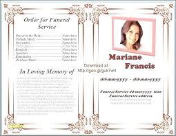 Free Funeral Program Templates Download Adorable Free Funeral Program Template Word Memorial Microsoft Download