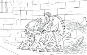 Apostle Paul Coloring Pages Bible Story Coloring Page For And The