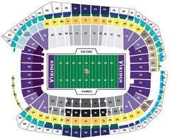 Us Bank Seating Chart Minnesota Vikings Seating Chart Seat Views Tickpick