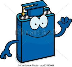 cartoon textbook waving csp23543081