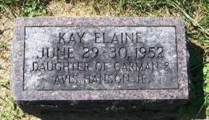 HANSON, KAY ELAINE - Winneshiek County, Iowa   KAY ELAINE HANSON - Iowa  Gravestone Photos