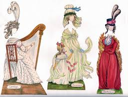 18th century at the court of king louis xv paper doll vine paper craft retro