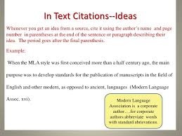 a practical guide to mla style  4 in text citations ideaswhenever