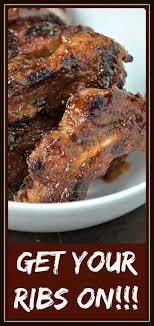 oven baked ribs with bar b barn sauce