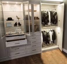 Image Shaped Wardrobe Style Closet With Led Closet Lighting System Closet Works Closet Lighting Ideas