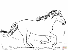 Running Mustang Coloring Page Free Printable Coloring Pages