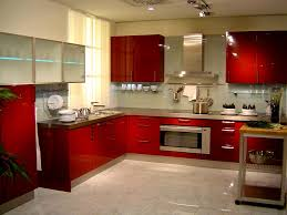 Red Wall Kitchen Red Kitchen Designs Red Paint Wall Kitchen Interior Design Style