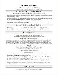 Retail Sales Clerk Resume Sample Monster With Regard To Retail Job
