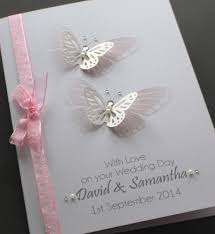large handmade personalised butterflies delicate design wedding card Personalised Handmade Wedding Cards Personalised Handmade Wedding Cards #13 personalised handmade wedding cards