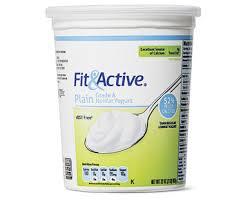 fit active plain nonfat yogurt