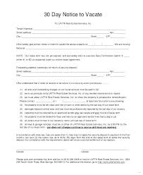 30 day notice to landlord form notice to vacate template unique day format texas sample landlord 30