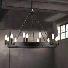 large wrought iron chandeliers village loft restaurant bar large wrought iron chandelier vintage industrial lighting round