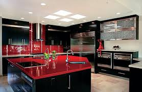 Black Red Colors For Kitchen Cabinets Stunningly Classic Charm Shine