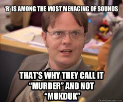 Murder Quotes Beauteous R' Is Among The Most Menacing Of Sounds Imgur