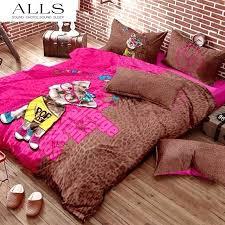 giraffe bedding twin cotton animal bedding sets include bulldog panda giraffe sheep puppy dog print bedding 3